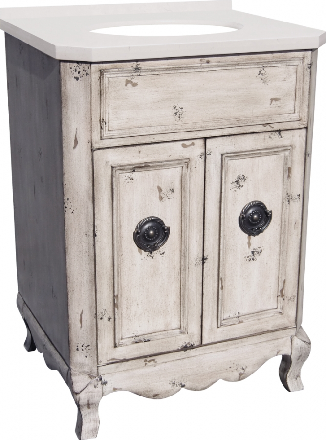 26 Inch Single Sink Bathroom Vanity In Aged Pine Uvlklk3126