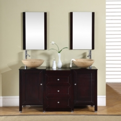55 Inch Double Sink Vanity In Espresso Uvdedec35055