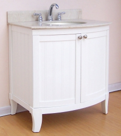 30 Inch Single Sink Modern Bathroom Vanity With Choice Of Finish And White Marble Counter Top