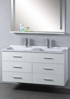 47 Inch Modern Wall Mount Single Sink Bathroom Vanity In White
