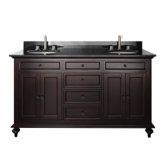 61 Inch Modern Double Sink Bathroom Vanity With Four Doors And Four Drawers U