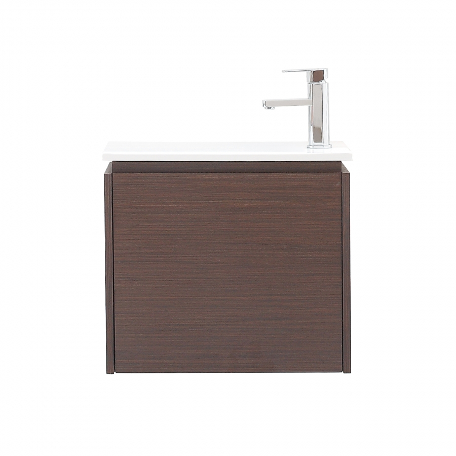 Home 22 Inch Single Sink Bathroom Vanity With Integrated Top