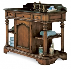 48 inch shiny cherry finish single sink vanity with choice of top uvsh511548. Black Bedroom Furniture Sets. Home Design Ideas