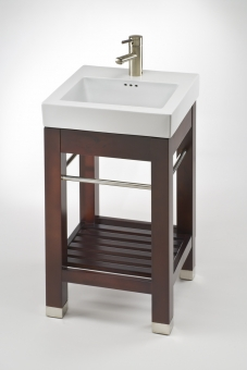 18 Inch Vanity With Sink : Vanities > 17.9 Inch Single Sink Square Console Bathroom Vanity ...