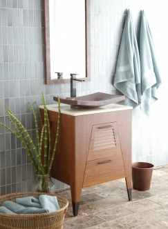 24 5 Inch Single Sink Bath Vanity In Bamboo Uvntvns24225