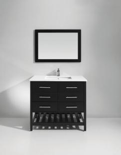 Bathroom Vanity on 37 Inch Single Sink Bath Vanity In Espresso Uvlfwc51437