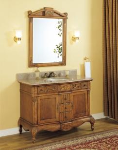 45 Inch Single Sink Bathroom Vanity With Peach Granite Counter Top Uveiy45