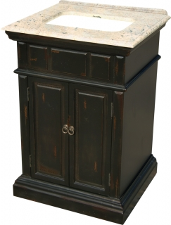 25 inch single sink bathroom vanity with a distressed - Black distressed bathroom vanity ...