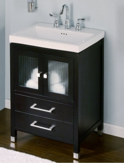 24 Inch Single Sink Modern Bathroom Vanity with Choice of