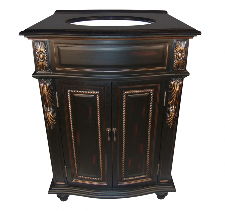 26 inch bathroom vanity cabinets 26 inch single sink bathroom vanity with a black finish 21788
