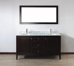 Bathroom Vanities on Double Vanities 48   84 Inches   63 Inch Double Sink Bathroom Vanity