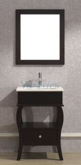 24 Inch Single Sink Bathroom Vanity With Choice Of Top In Chai UVABWICH24