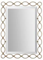 Lauria Antiqued Gold Leaf Rectangular Mirror