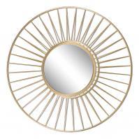 Caspian Gold Round Mirror