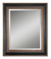 Fabiano Hand Rubbed Black Rectangular Mirror