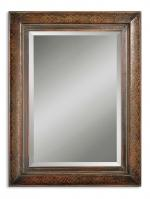 Rowena Two Tone Wood Rectangular Mirror