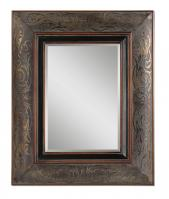 Bovara Rustic Bronze with Copper Undertones Rectangular Mirror