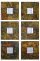 Ambrosia Oxidized Copper Sheeting Square Mirror