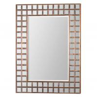 Keely Oxidized Copper Sheeting Rectangular Mirror