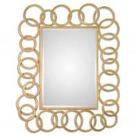 Amena Gold Rings Rectangular Mirror