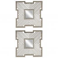Vistula Antique Silver Mirrors Set Of 2