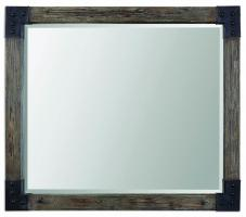 Nelo Weathered Wood with an Aged Gray Wash Rectangular Mirror