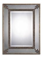 Michelina Antiqued Gold Leaf Rectangular Mirror