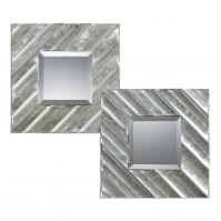 Jovan Antiqued Square Mirror Set of 2