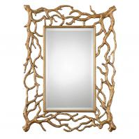 Sequoia Gold Tree Branch Rectangular Mirror