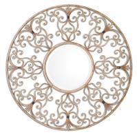 Santena Round Metal Mirror