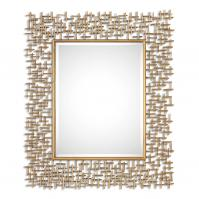 Nevena Gold Rectangular Mirror