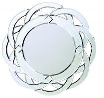 Howard Elliott Galaxy Round Contemporary Venetian Style Round Twist Mirror