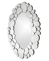 Stratus Oval Circular Accents Mirror