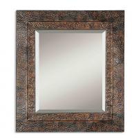 Jackson Distressed Dark Rust Brown Rectangular Mirror