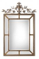 Le Vau Silver Leaf Undercoat Rectangular Mirror