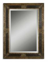 Cadence Burnished Wood Tone Rectangular Mirror