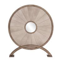 Myron Antique Round Disc Mirror