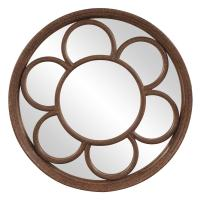 Clinton Textured Rust Round Mirror