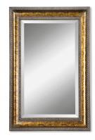 Sinatra Gold Leaf Undercoat Rectangular Mirror