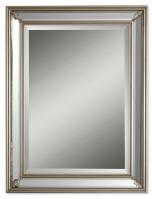 Jansen Rectangular Antiqued Silver Leaf Mirror