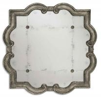 Uttermost Prisca Distressed Silver with Black Unique Framed Mirror