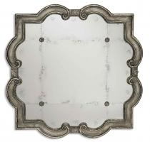 Uttermost Prisca Distressed Silver with Black Unique Mirror