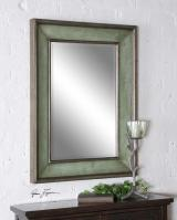 Ogden Hand Rubbed Sky Blue with Ivory Rectangular Mirror