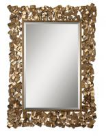 Capulin Rectangular Antiqued Gold Leaf Mirror