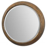 Cerchio Antique Gold Leaf Round Mirror