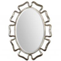 Beccaria Oxidized Plated Silver Oval Mirror