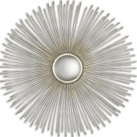 Launa Oxidized Plated Silver Round Mirror