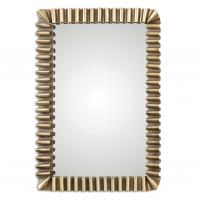 Sori Scalloped Metal Rectangular Mirror