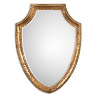 Lumarzo Antiqued Gold Unique Mirror