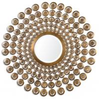 Orbetello Antiqued Gold Round Mirror